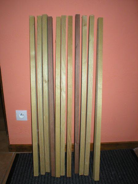 Fabrication des dérives et du safran dans 3°) Construction d3lattes